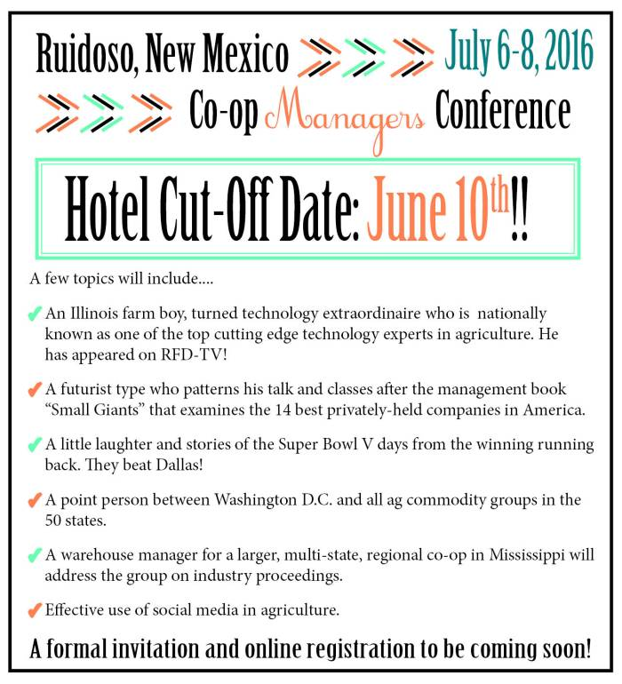 2016 Hotel Cut Off Date and Registration