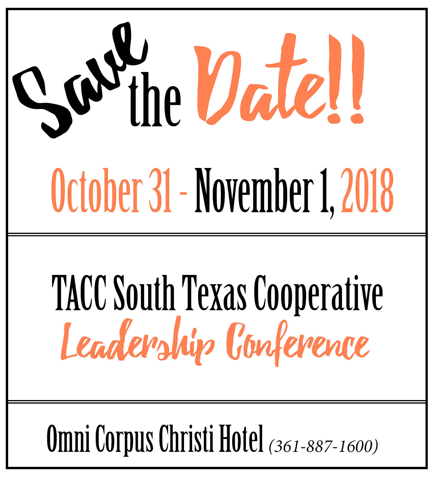 south texas leadership center TACC South Texas Cooperative Leadership Conference | Texas ...